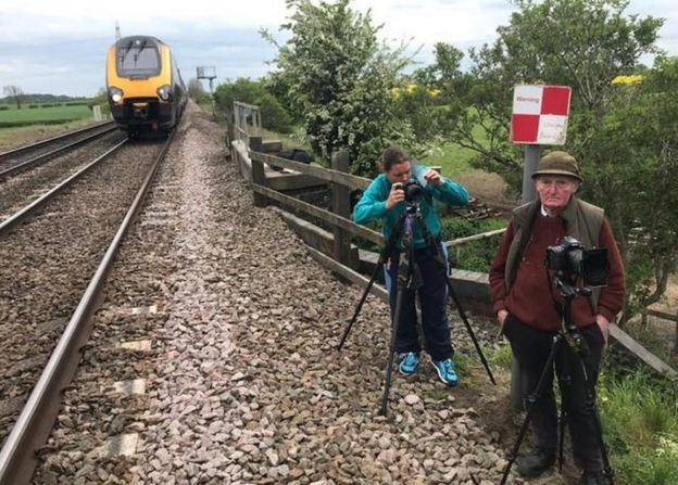 Trainspotters on line police appeal