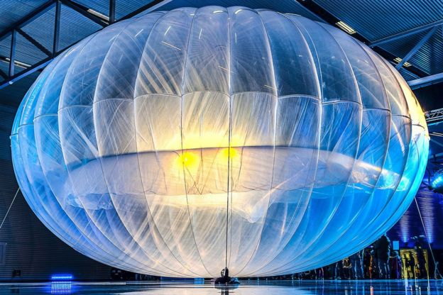 Google's Loon brings internet-by-balloon to Kenya - BBC News