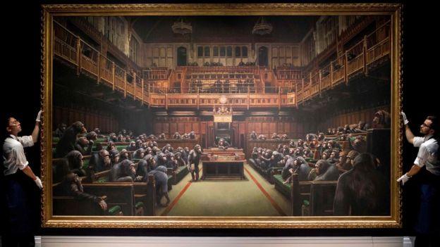 Banksy'nin Devolved Parliament adlı eseri