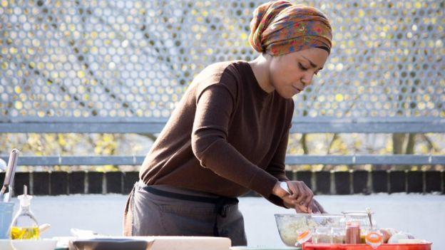 Nadiya Hussain cooking