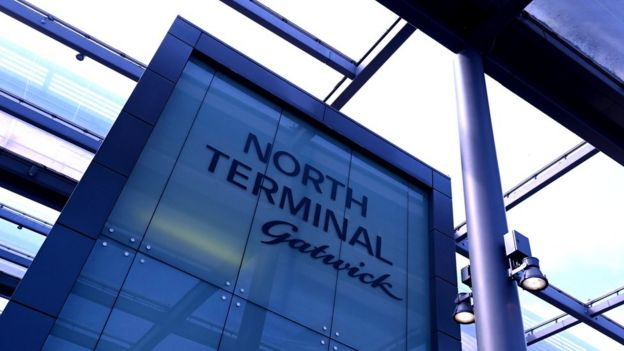 Gatwick airport North Terminal sign