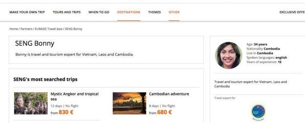 Agencia de viajes a Camboya