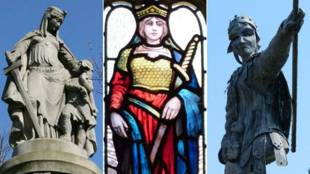 Aethelflaed in statues and glass