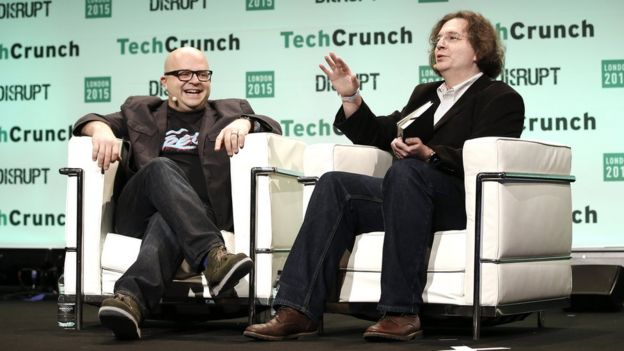 Jeff at a TechCrunch event