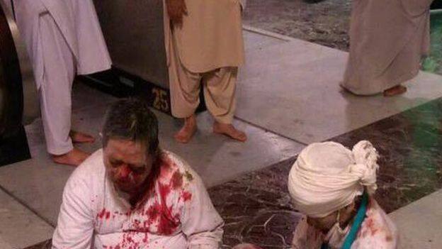 Victims of the Grand Mosque crane collapse in Mecca, 12 September 2015
