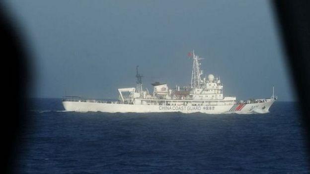 Một tàu của lực lượng Hải cảnh Trung Quốc