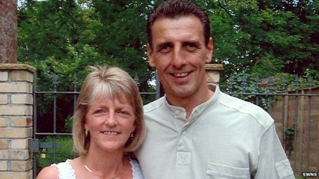 Stephen Mellor and wife Cheryl on their wedding day