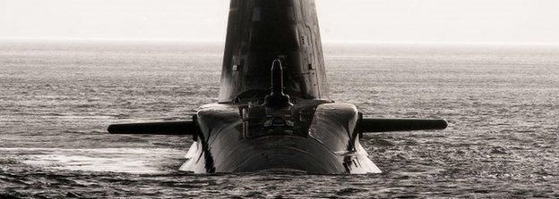 Royal Navy hunter killer submarine