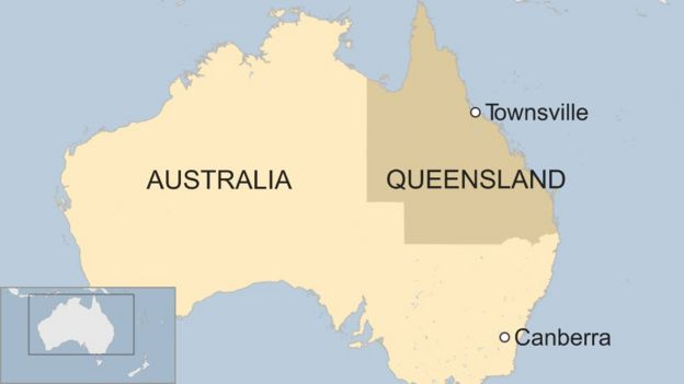 Map Of Australia Townsville.Australia Weather Townsville Warned As Floodgates Open Bbc News