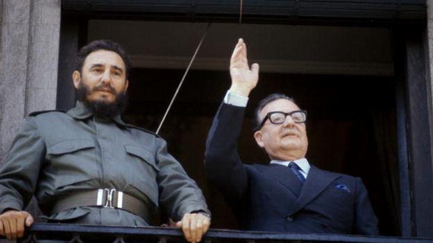 Fidel Castro y Salvador Allende