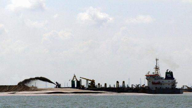 Retirada de areia em Singapura