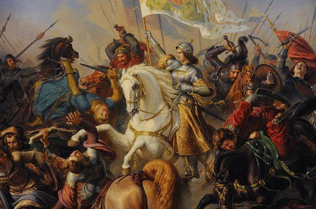 Gilles de Rais batalhou ao lado de Joana D'Arc, retratada nesta pintura de Hermann Anton Stilke (1803-1860)