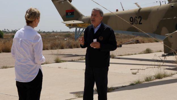 Hulusi Akar Libya'da BBC'ye konuştu: Bazı ülkeler NATO'yu Türkiye'ye karşı araç olarak kullanmaya çalışıyor