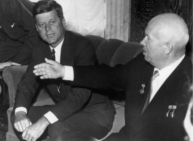 Kennedy and Khrushchev in Vienna.