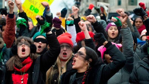 Mujeres protestas
