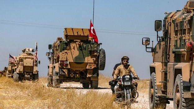 Türkiye ve ABD askerleri, sınırın Suriye tarafındaki ilk ortak kara devriyesini 8 Eylül'de gerçekleştirdi