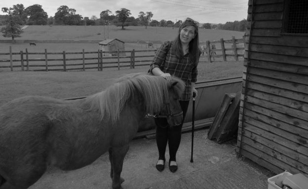 Alison with a horse