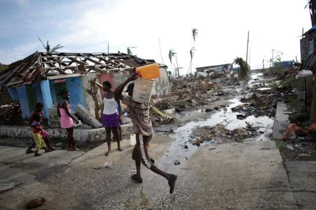 Gente en Haití