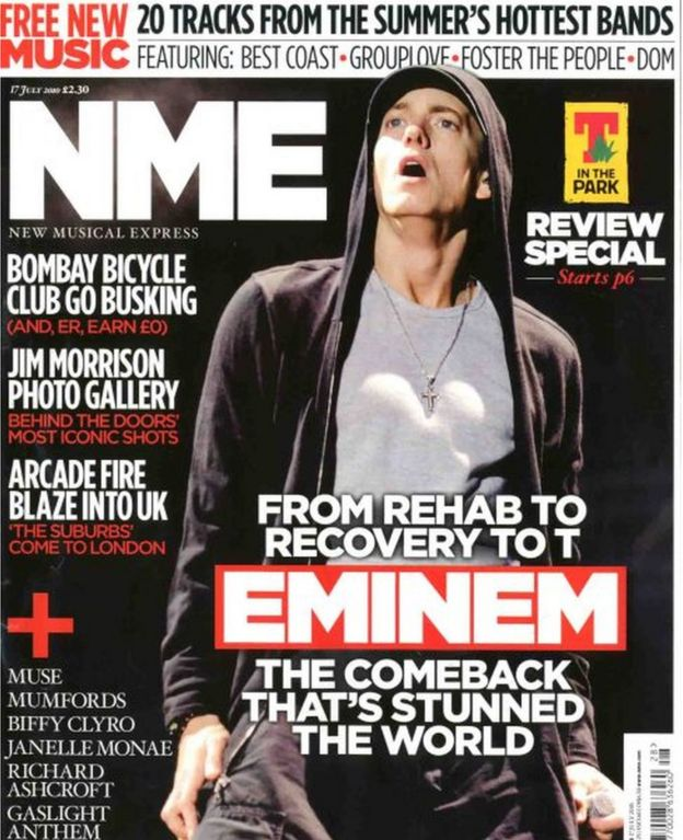 Eminem's NME cover