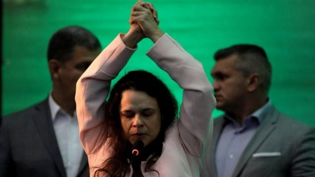 Janaína Paschoal discursa em convenção partidária no Rio de Janeiro