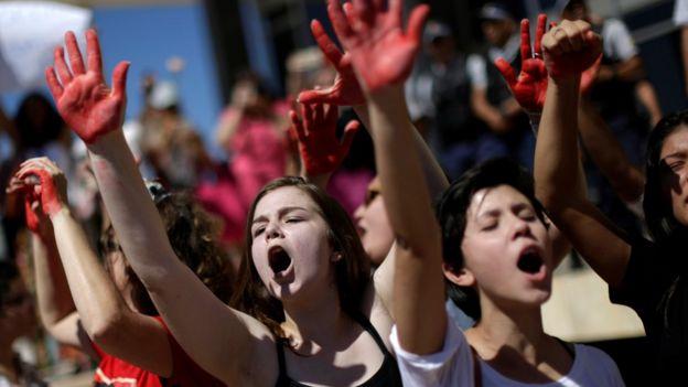 Protesto contra violência sexual em Brasília