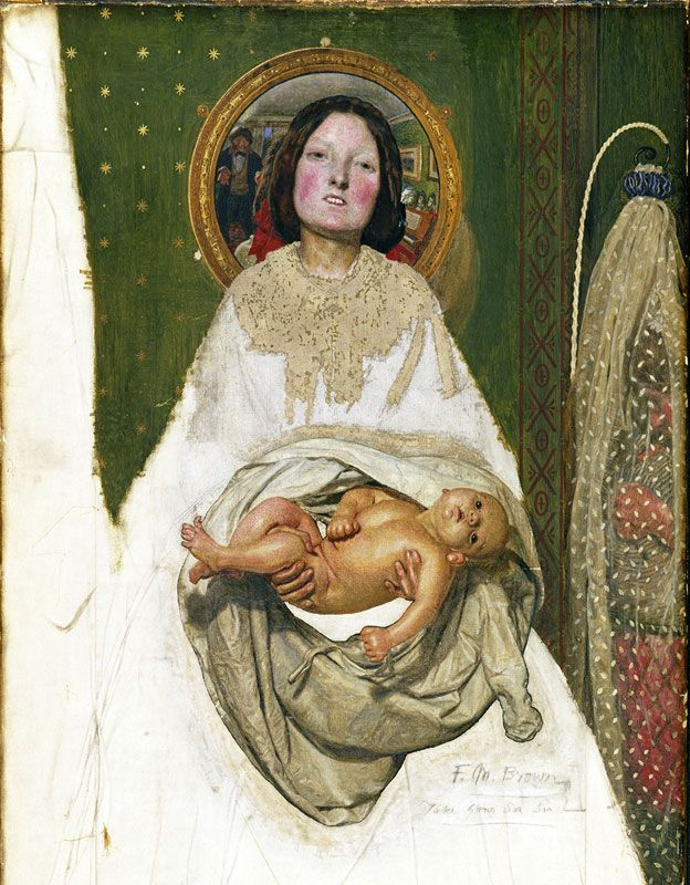 """Take your Son, Sir!"", Ford Madox Brown, 1851-92; Óleo sobre lienzo, 70.5 × 38.1 cm © Tate, London"