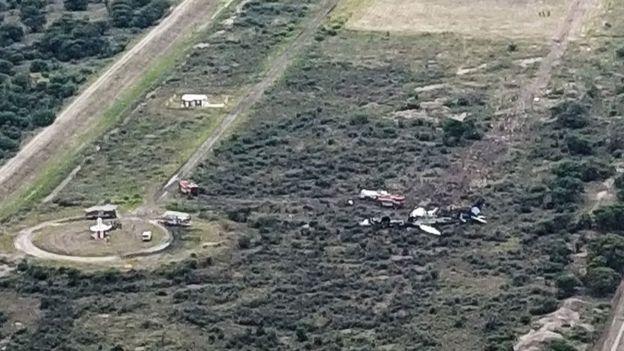 Foto aérea del lugar del accidente