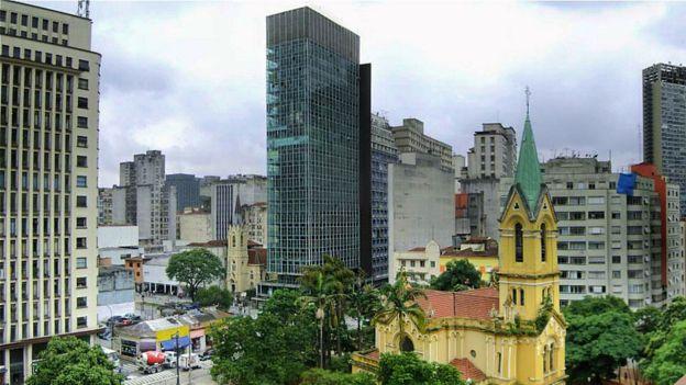 Edifício Wilton Paes de Almeida, no Largo do Paissandu