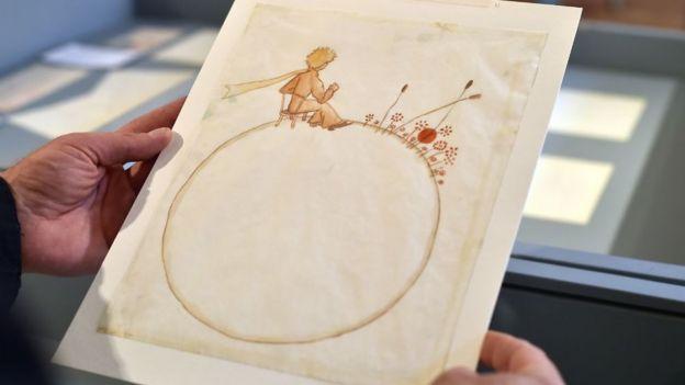 Dibujos originales de Antoine de Saint-Exupéry.