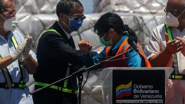 Llegada de ayuda a Venezuela de China.
