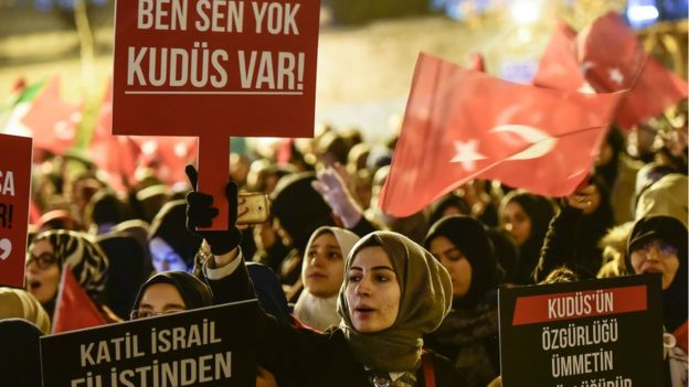 Manifestation against Israel and the United States in Turkey.