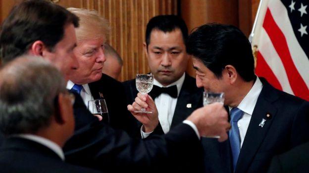 Трамп и Абе