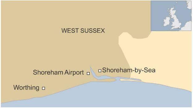 Shoreham map