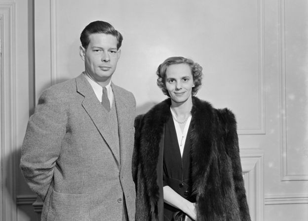 King Michael with his wife, Queen Ann, in 1951