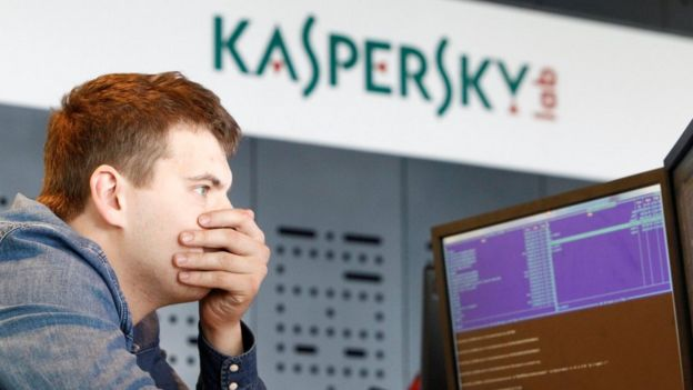 Employee at Kaspersky's Moscow HQ