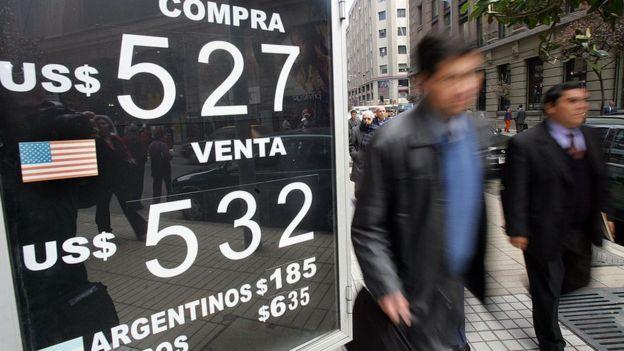 Cotización de divisas en Santiago de Chile
