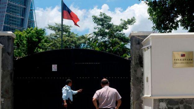 Sede de la embajada de Taiwán en El Salvador.