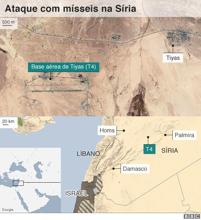 Mapa mostra área alvo do ataque