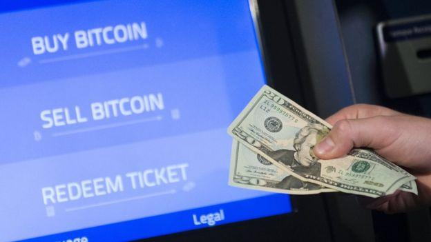 Un cajero para cambiar bitcoins
