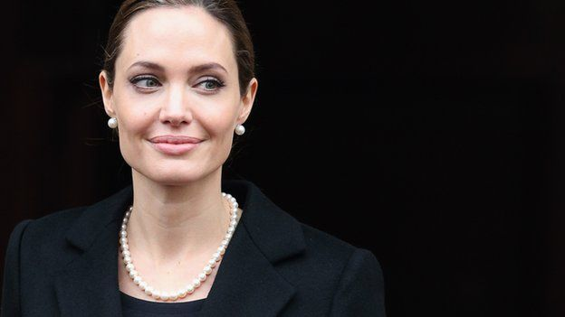 Angelina Jolie - smiling at people