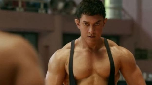 Scene from the film Dangal when he is younger