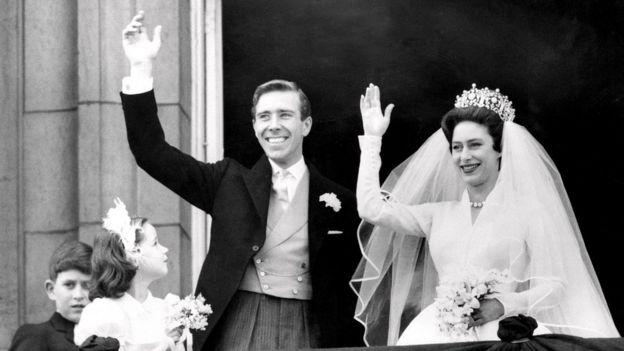 Принцесса Маргарет в день свадьбы