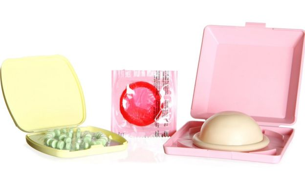 Píldora, condón y diafragma