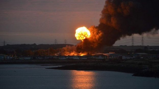 Huge industrial explosion rocked households in UK