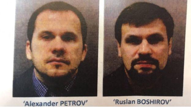Подозреваемые Александр Петров и Руслан Боширов
