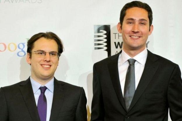 Kevin Systro (sağda) ve Mike Krieger