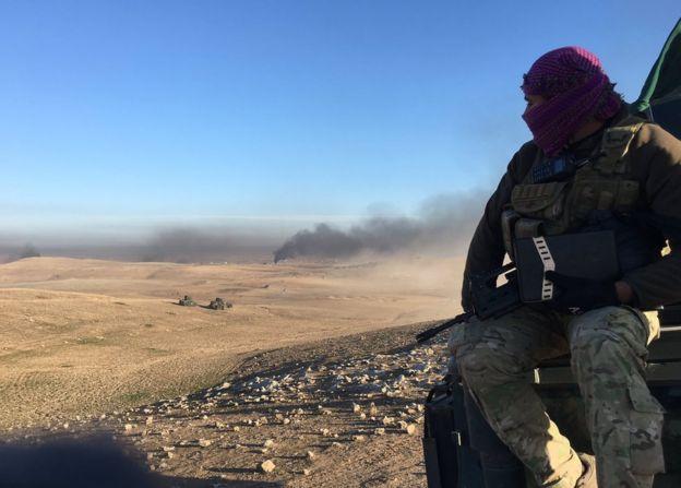 Iraqi troops near Mosul