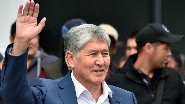 Atambayev destekçilerine seslenirken