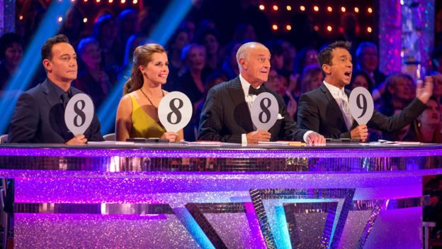 The judges on Strictly Come Dancing