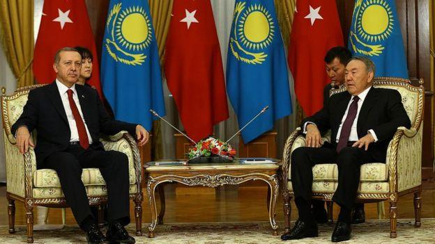 Recep Tayyip Erdoğan ve Nursultan Nazarbayev